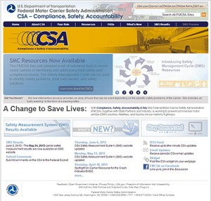 DOT CSA Score federal website