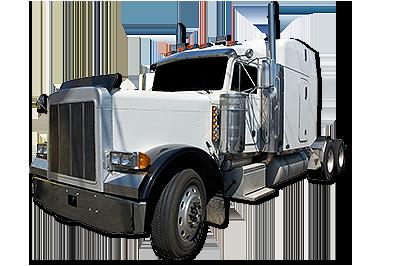 white-semi-truck
